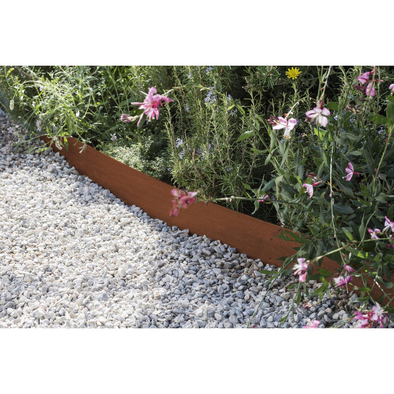 Bordure À Planter Aspect Rouille Acier Galvanisé Marron, H ... destiné Bordure De Jardin En Acier Galvanisé
