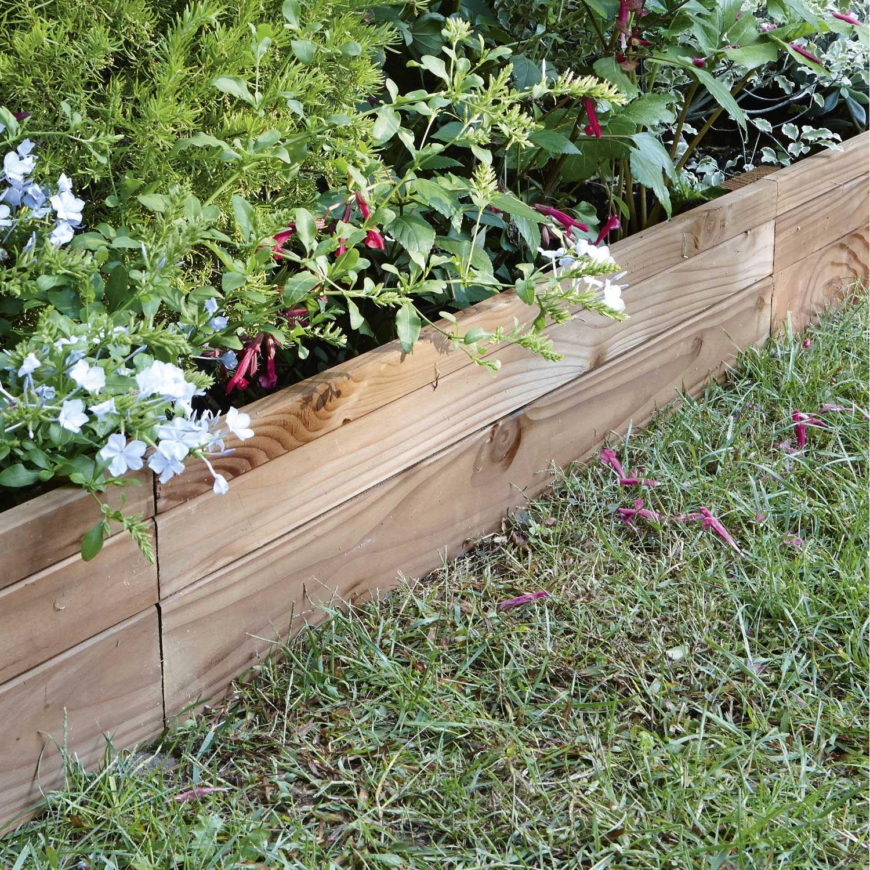 Bordure À Planter Douglas Bois Marron, H.45 X L.90 Cm ... pour Bordures De Jardin Leroy Merlin