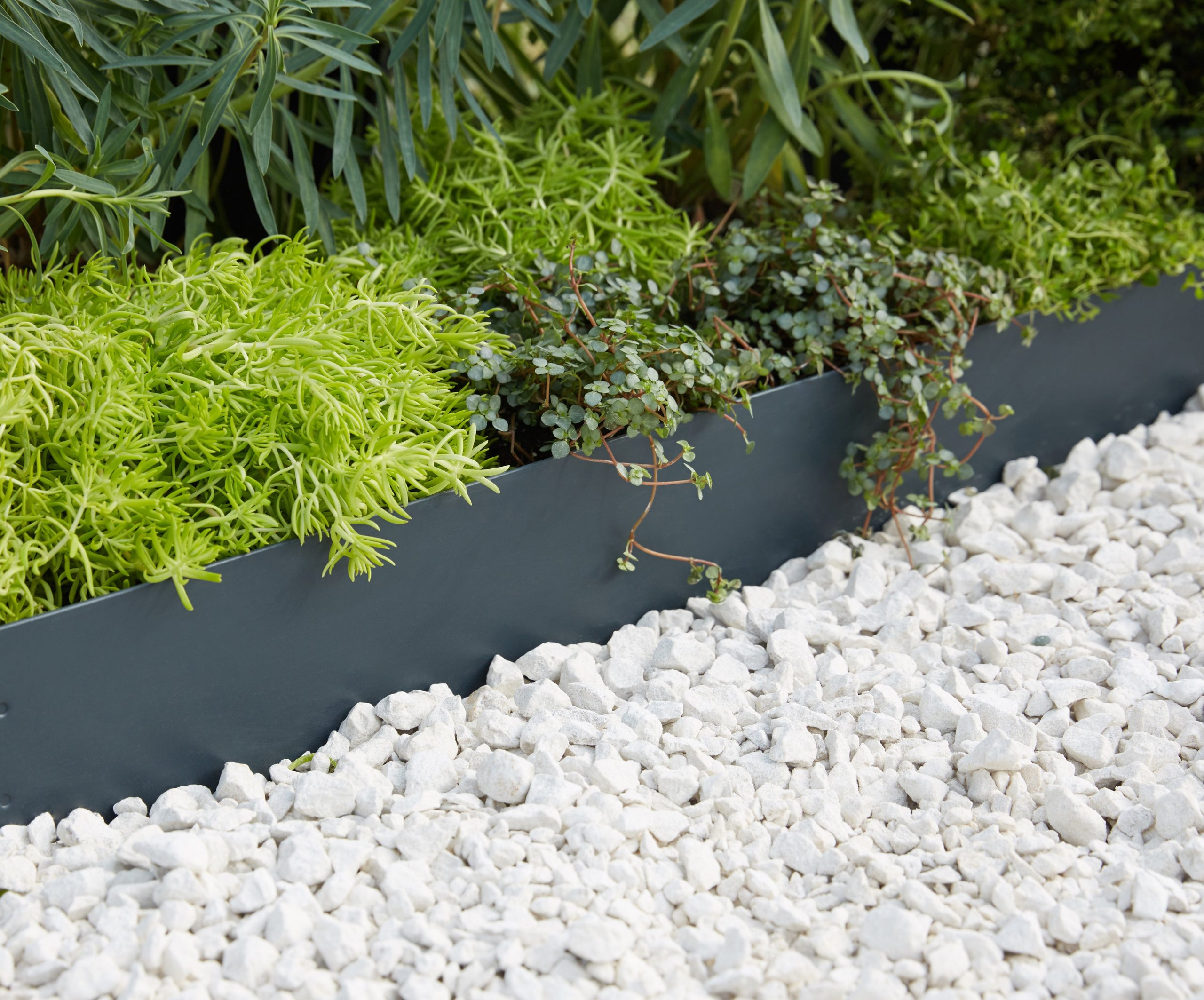 Bordure À Planter Galva Acier Galvanisé Gris, H.12 X L.99 Cm pour Bordures De Jardin Leroy Merlin