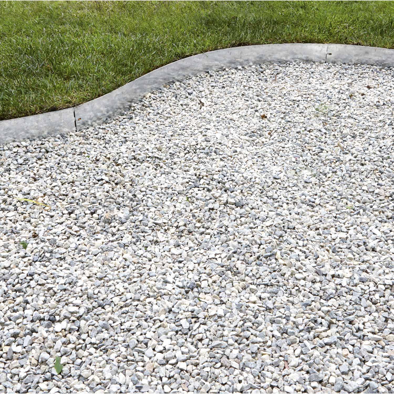 Bordure À Planter Metal Acier Galvanisé Gris, H.13 X L.118 ... pour Bordure Jardin Metal