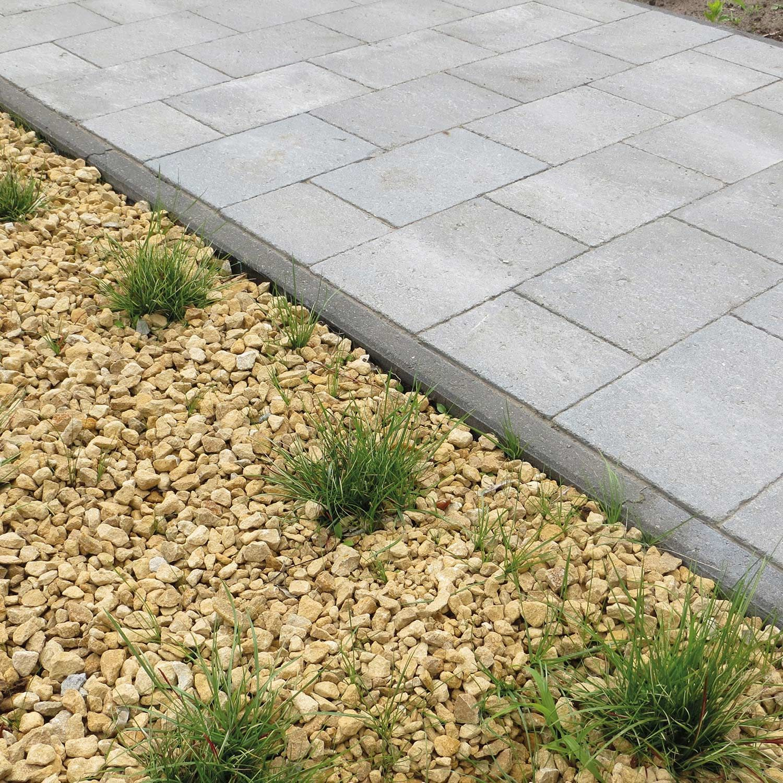 Bordure Béton Noir, H.20 X L.100 Cm | Bordure Jardin ... à Bordures De Jardin Leroy Merlin