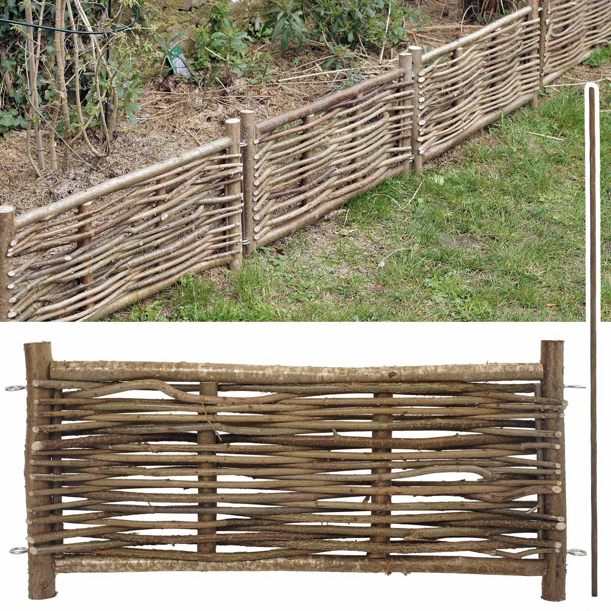 Bordure Bois Noisetier Avec Tige avec Petite Barriere Jardin