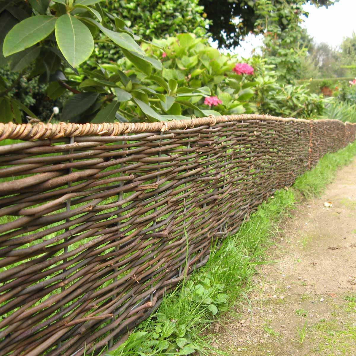 Bordure Bois Pliable En Rotin 180Cm destiné Bordure De Jardin En Osier Tressé