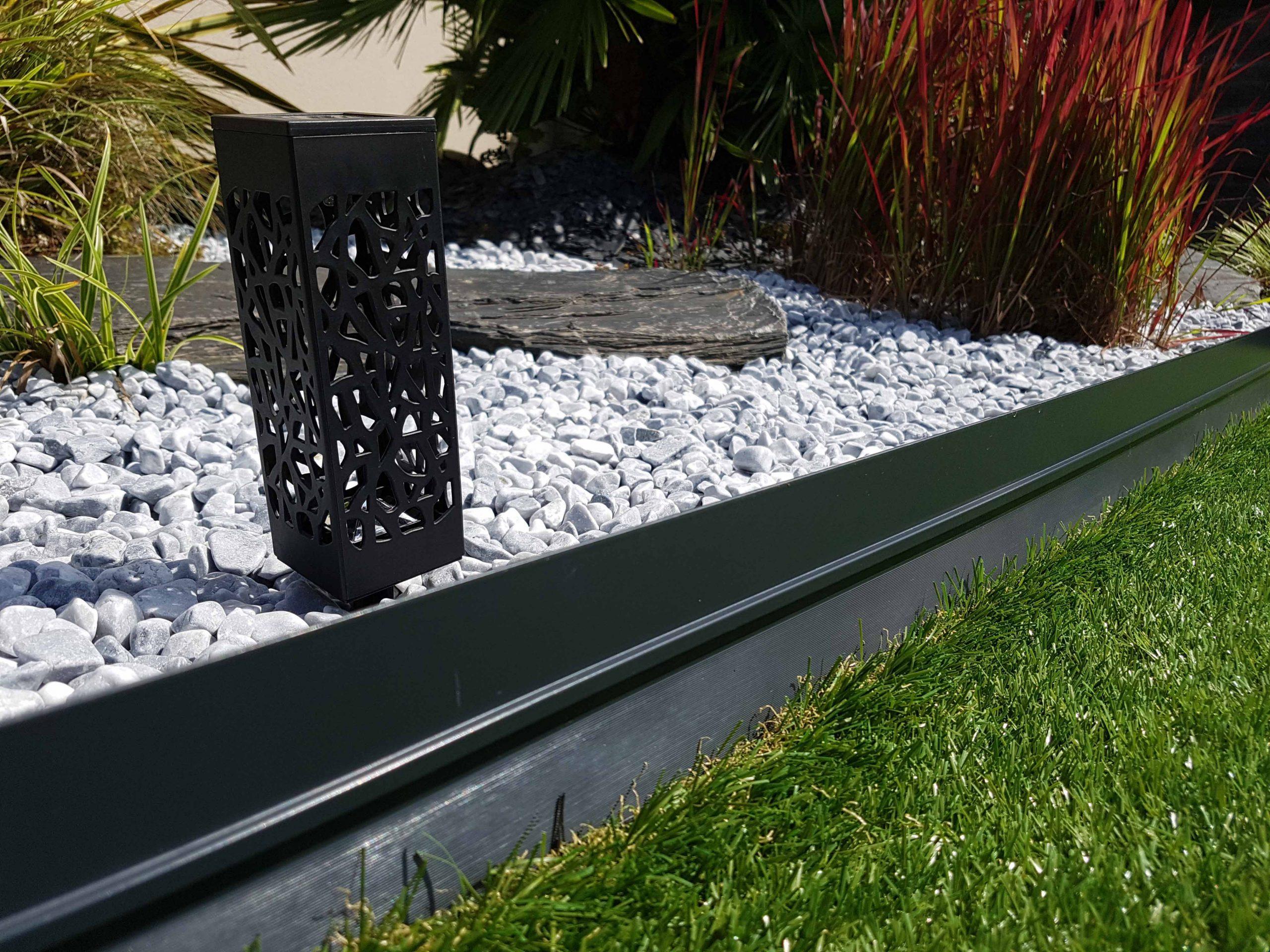 Bordure Bordalu Gris Anthracite avec Bordure Aluminium Jardin
