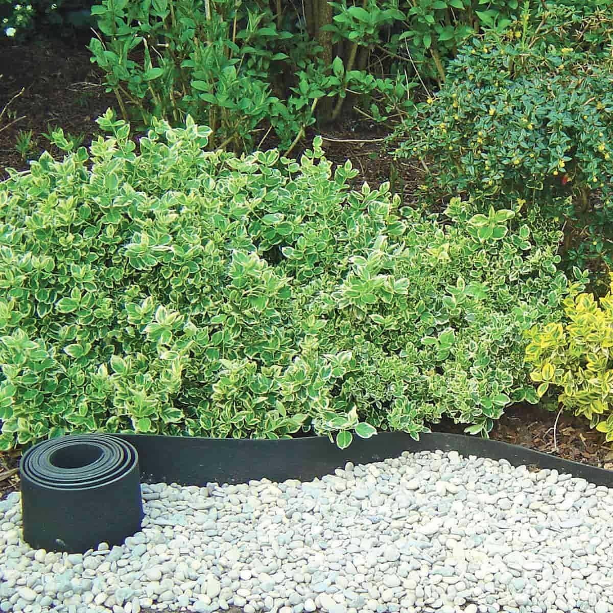 Bordure Caoutchouc Recyclé Gazon 5Mx13Cm avec Bordures De Jardin Pas Cher