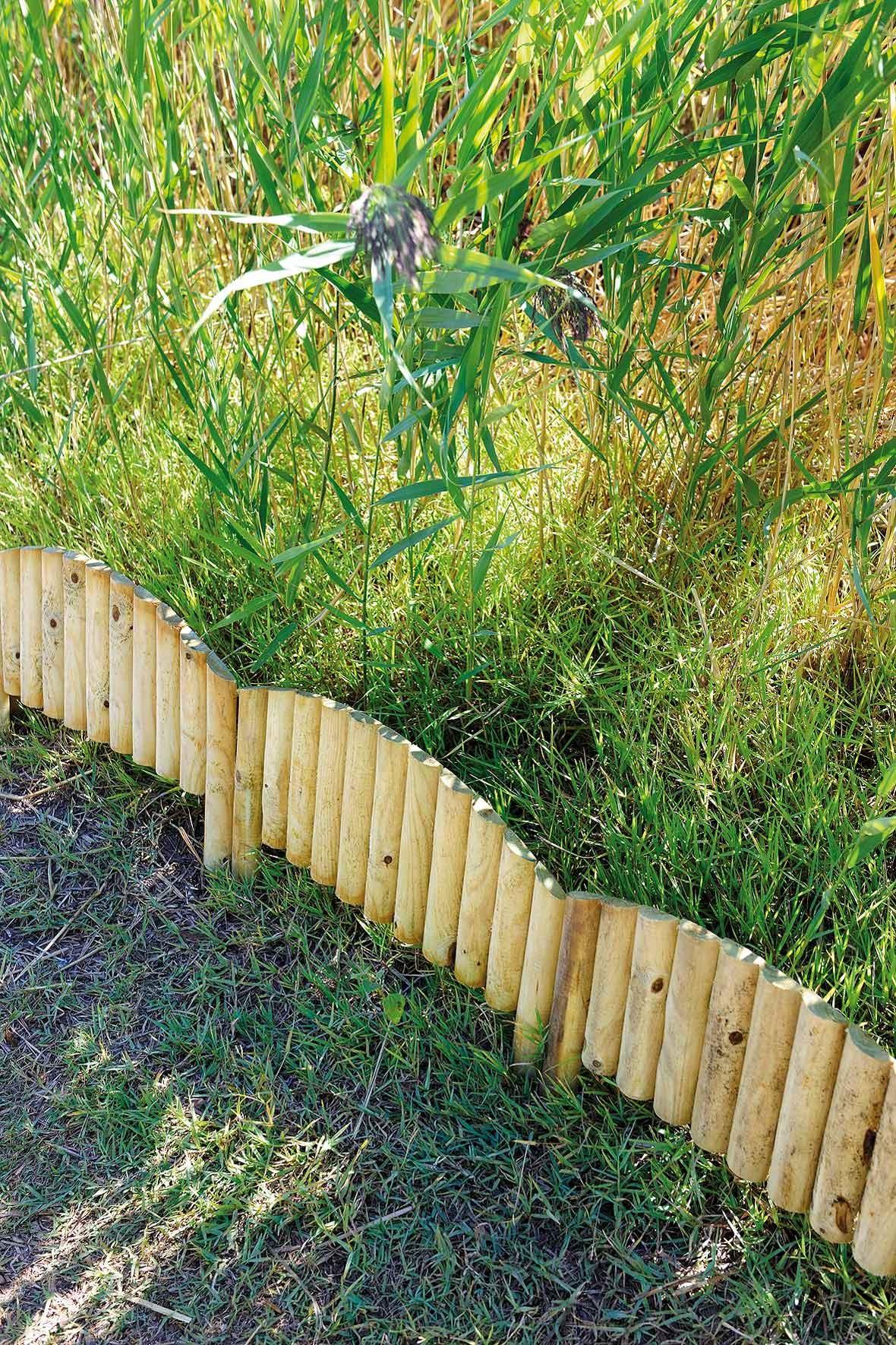Bordure De Jardin En Bois À Planter Arc 55 X 2,5 X 40 Cm intérieur Bordures Bois Jardin