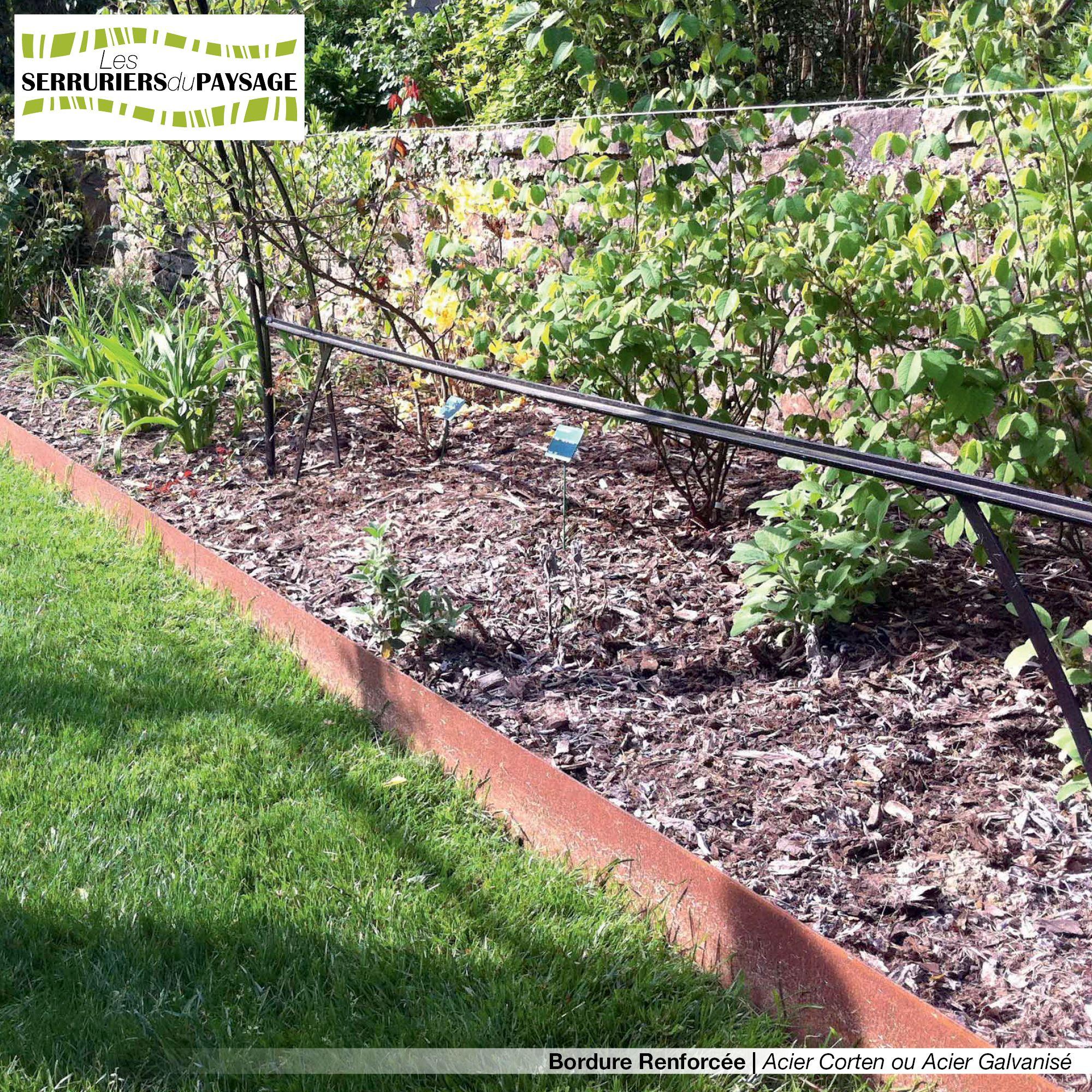 Bordure De Jardin En Tôle Acier Galvanisé Ou Tôle Acier ... avec Bordure De Jardin En Acier Galvanisé