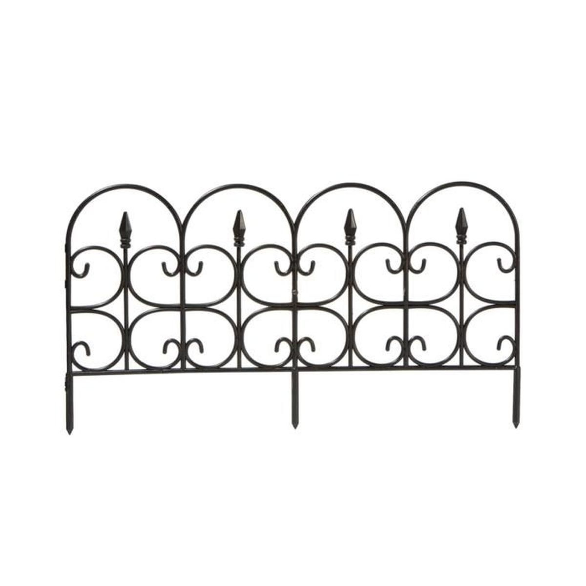 Bordure De Jardin Oxford Imitation Métal - 20 X 60 Cm (Lot ... serapportantà Bordure Jardin Metal