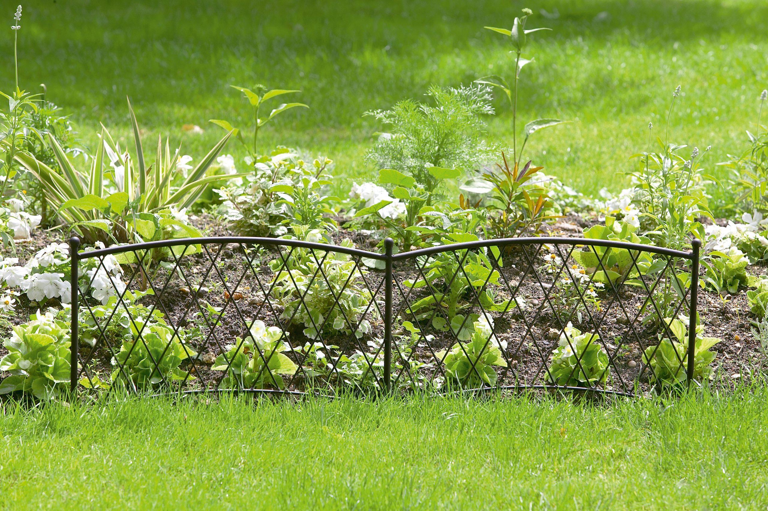 Bordure Décorative En Métal Époxy - Nortene intérieur Bordure De Jardin En Grillage