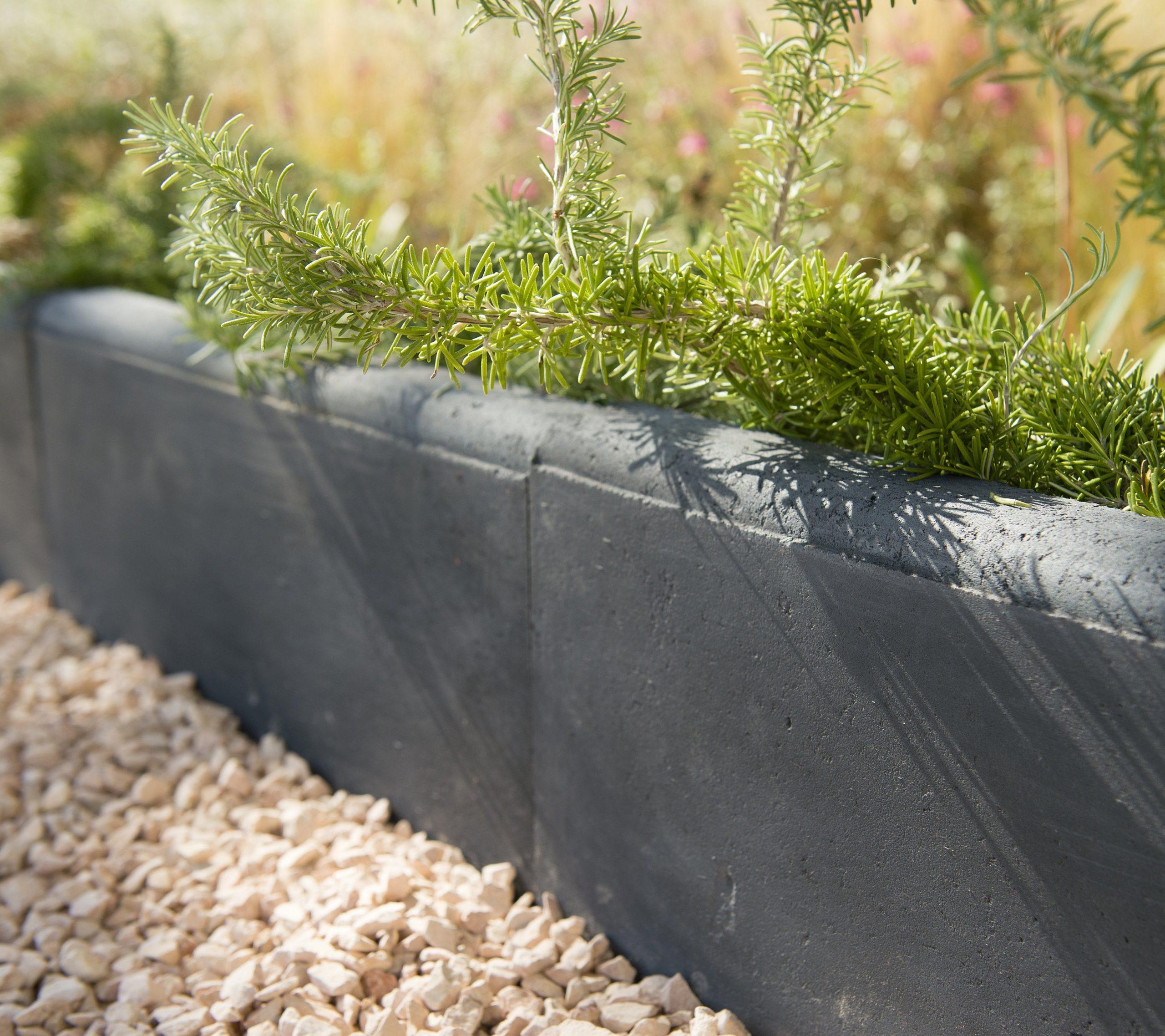 Bordure Droite Hauteur 16 Cm Béton Gris Ardoise, H.16 X L.50 Cm avec Bordure De Jardin Gris Anthracite