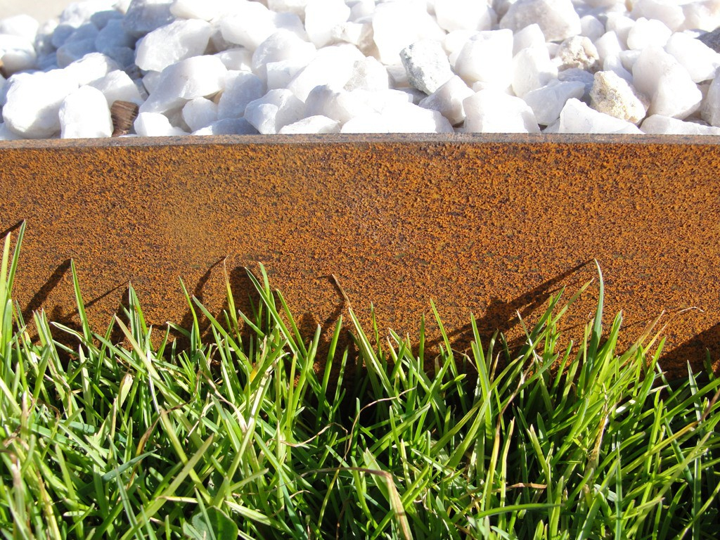 Bordure En Acier Corten avec Bordure Jardin Metal