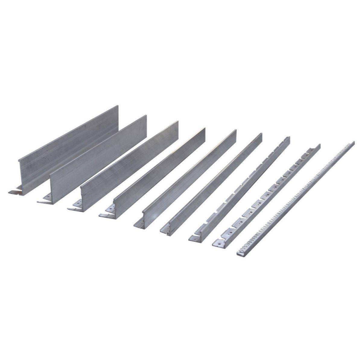 Bordure En Aluminium Profile En L Borderstyle - 100 Mm X 70 Mm X 2,30 Ml (5  Clous Par Longueur Et 1 Raidisseur Inclus) Pour Surface Dure Alu à Point P Bordures De Jardin