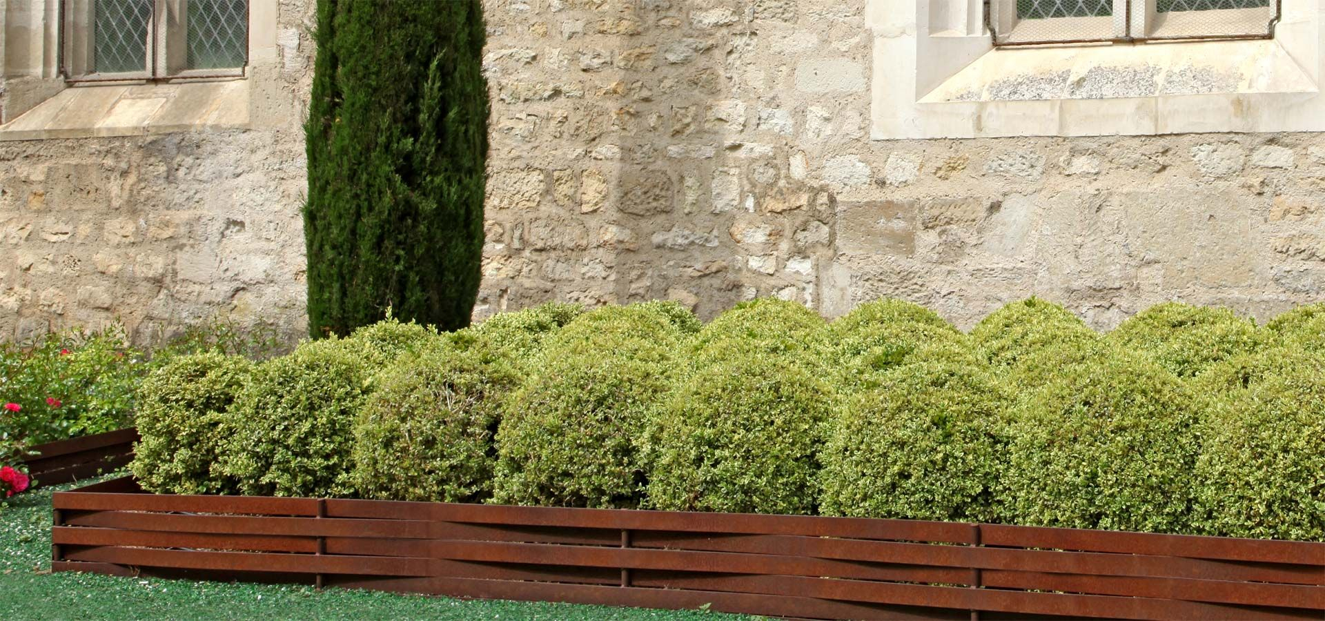 Bordure En Plessis Corten De Retenue De Talus. #jardin ... pour Bordure Jardin Acier Corten