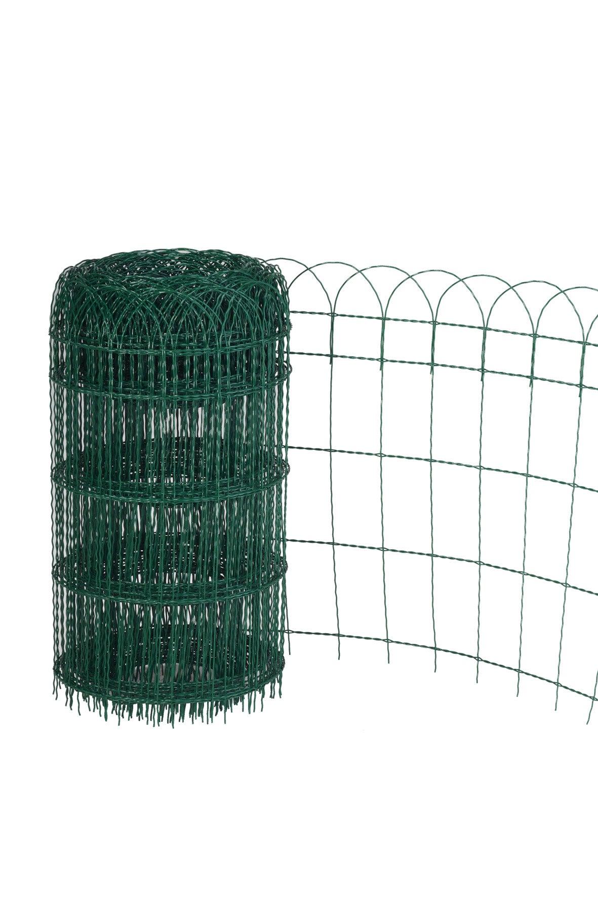 Bordure Grillagée Soudé Armor Vert, H.0.65 X L.10 M, Maille H.125 X L.78 Mm encequiconcerne Bordure De Jardin En Grillage