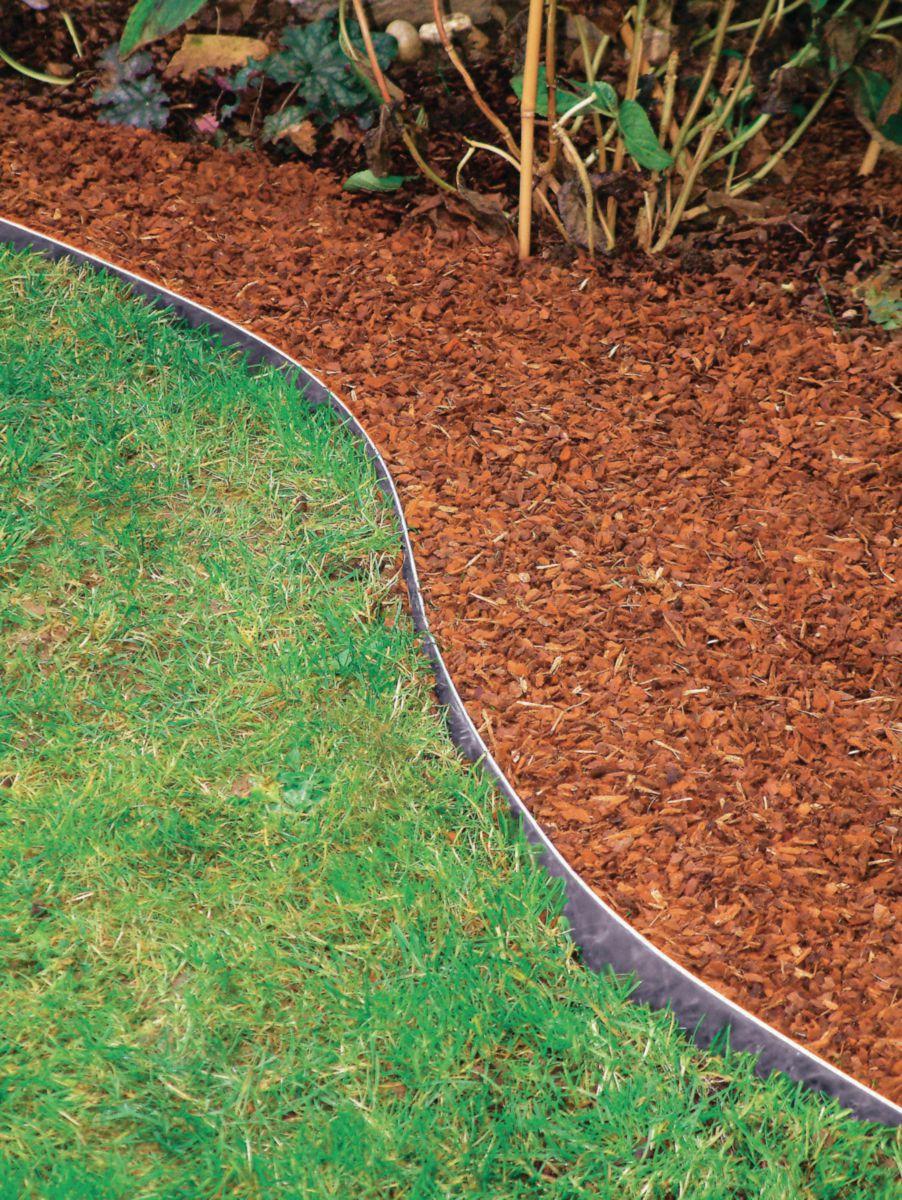 Bordure Jardin Acier Galvanisé - 1180X0,65X130 Mm tout Bordure Jardin Metal