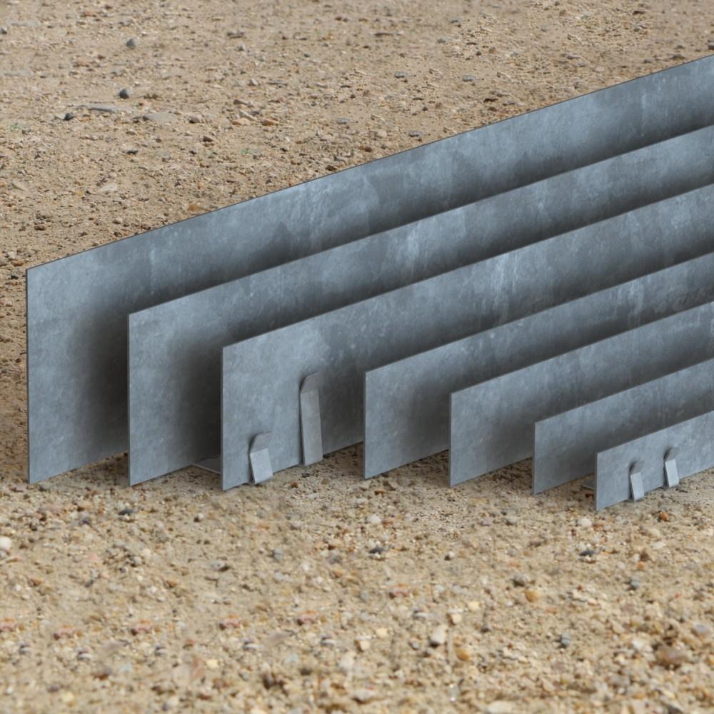 Bordure Jardin Qualité Professionnel Acier Galvanisé ... pour Bordure Jardin Metal