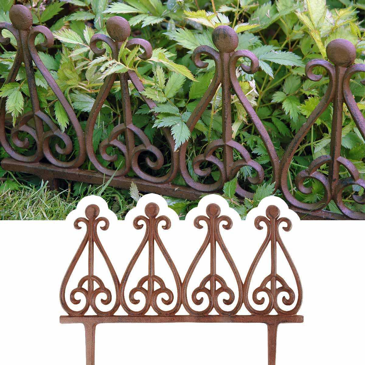Bordure Métal Fonte Style Antique destiné Bordures Jardin Pas Cher