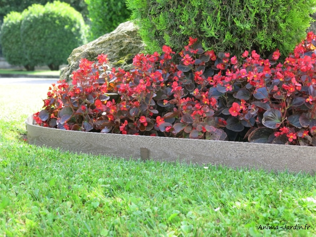 Bordure Semi-Enterrée En Composite, Woodtec Border, Bois ... intérieur Bordure De Jardin En Bois Pas Cher