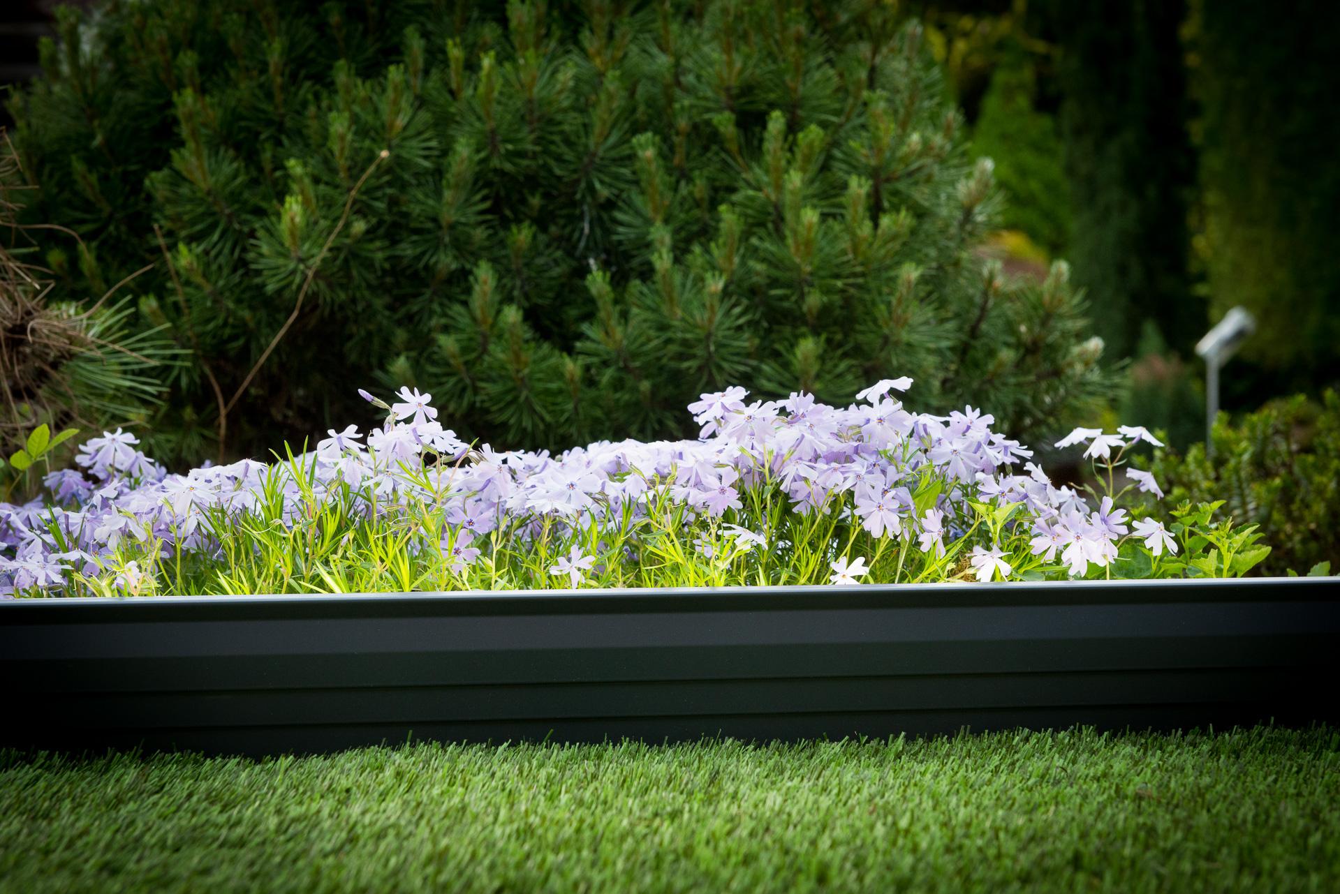 Bordure Volige Galvanisé Séparation Délimitation Massif avec Bordure De Jardin Gris Anthracite