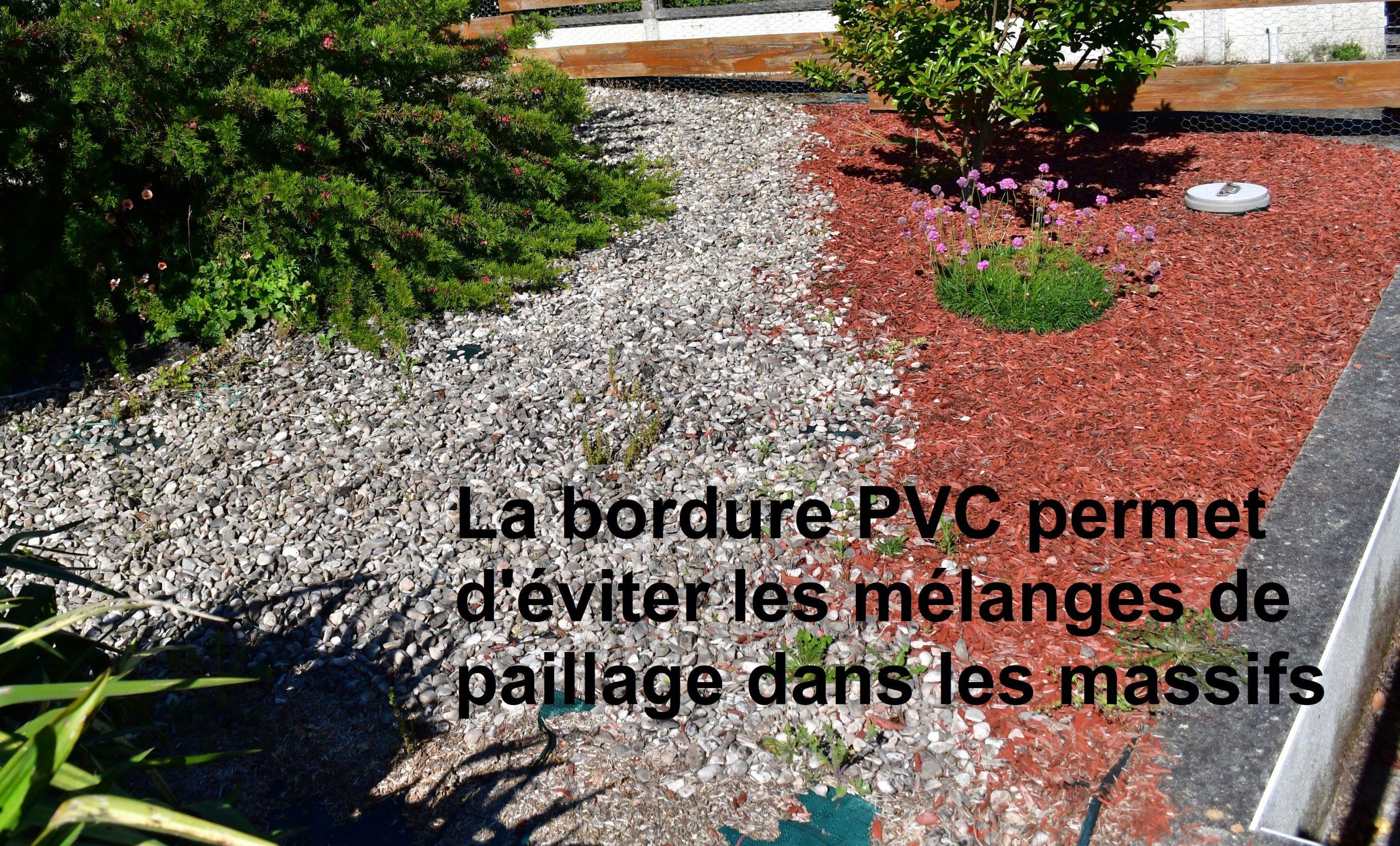 Bordure Volige Jardin Souple Délimitation Séparation ... intérieur Ecorce De Jardin