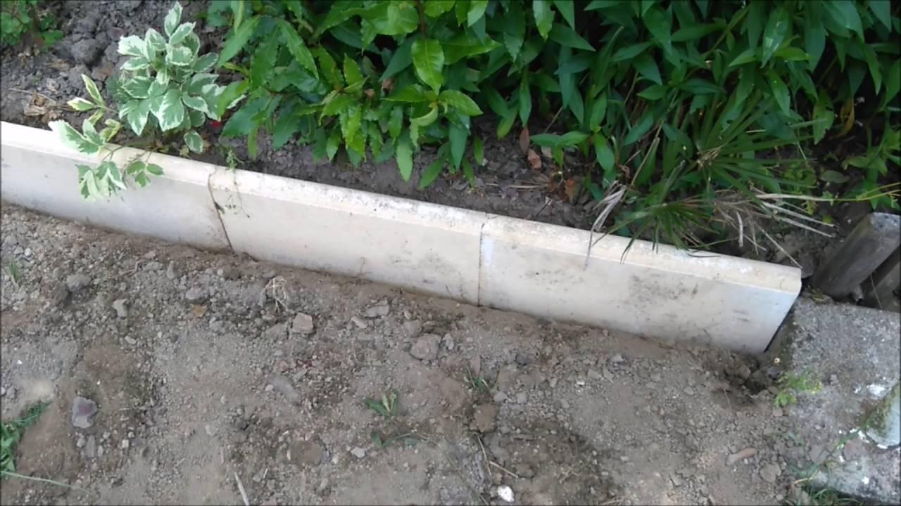 Bordures Beton - dedans Bordure De Jardin Beton 1M