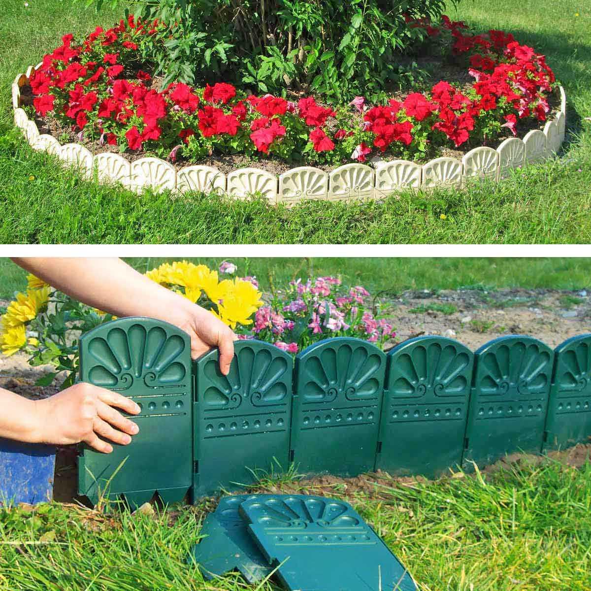 Bordures Décoratives De Jardin En Plastique dedans Bordurette De Jardin