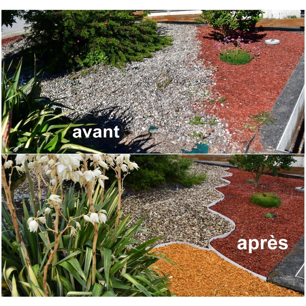 Bordures - Volige Jardin Pvc Blanc Souple Pas Chères intérieur Bordure Jardin Pas Cher