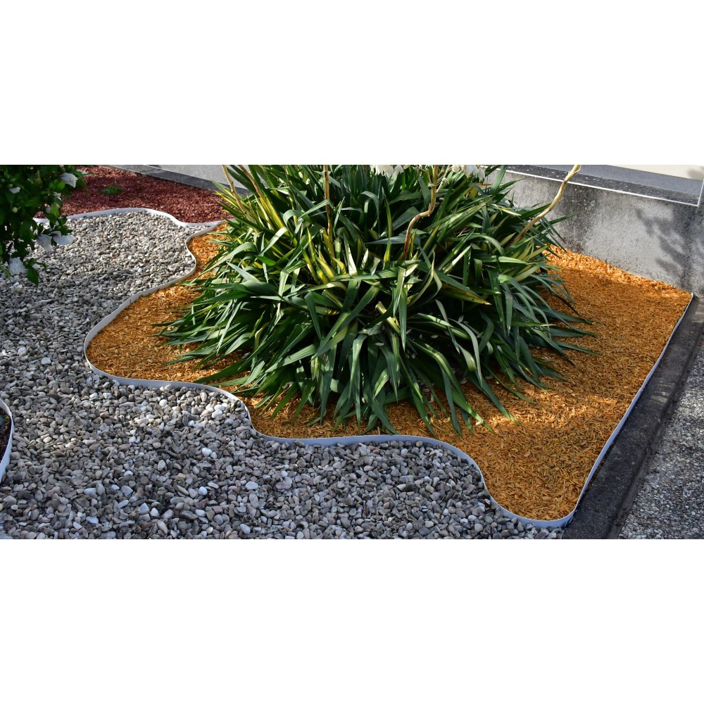Bordures - Volige Jardin Pvc Blanc Souple Pas Chères intérieur Bordure Jardin Pvc