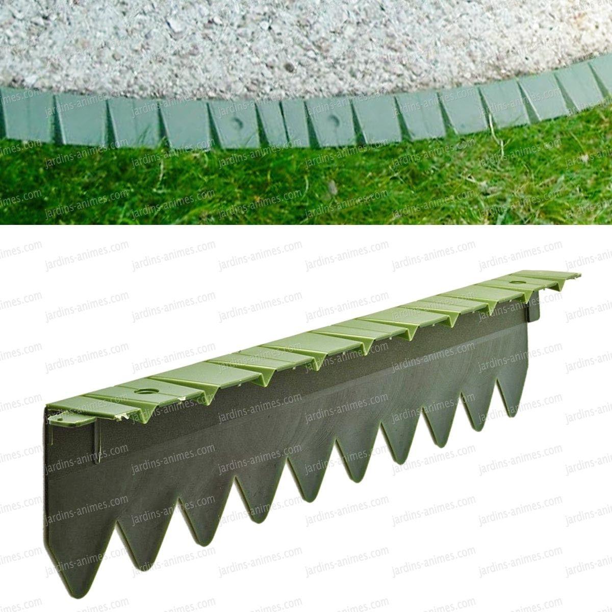 Bordurette Pelouse Flexible En Plastique 6X50Cm | Bordure ... serapportantà Bordure Jardin Caoutchouc