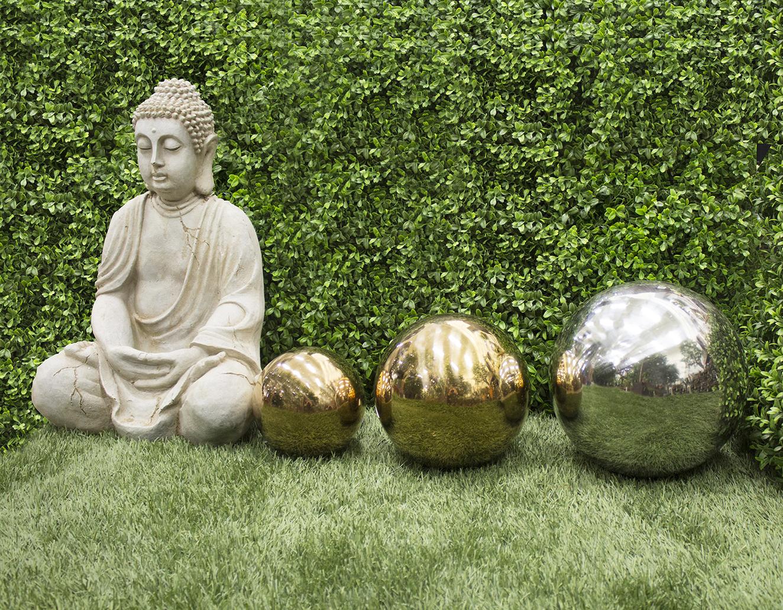 Boule Décorative Acier Inoxidable Cuivre 12'', Int./ext ... intérieur Boule Décorative Jardin