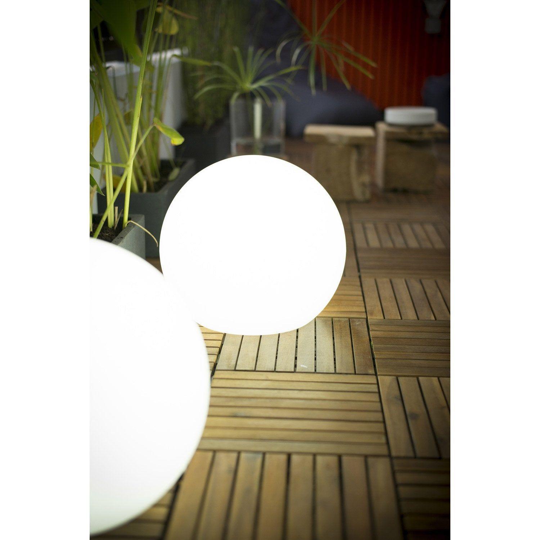 Boule Décorative Extérieure Buly, Diam 30Cm, E27 15 W = 800 ... encequiconcerne Boule Lumineuse Jardin
