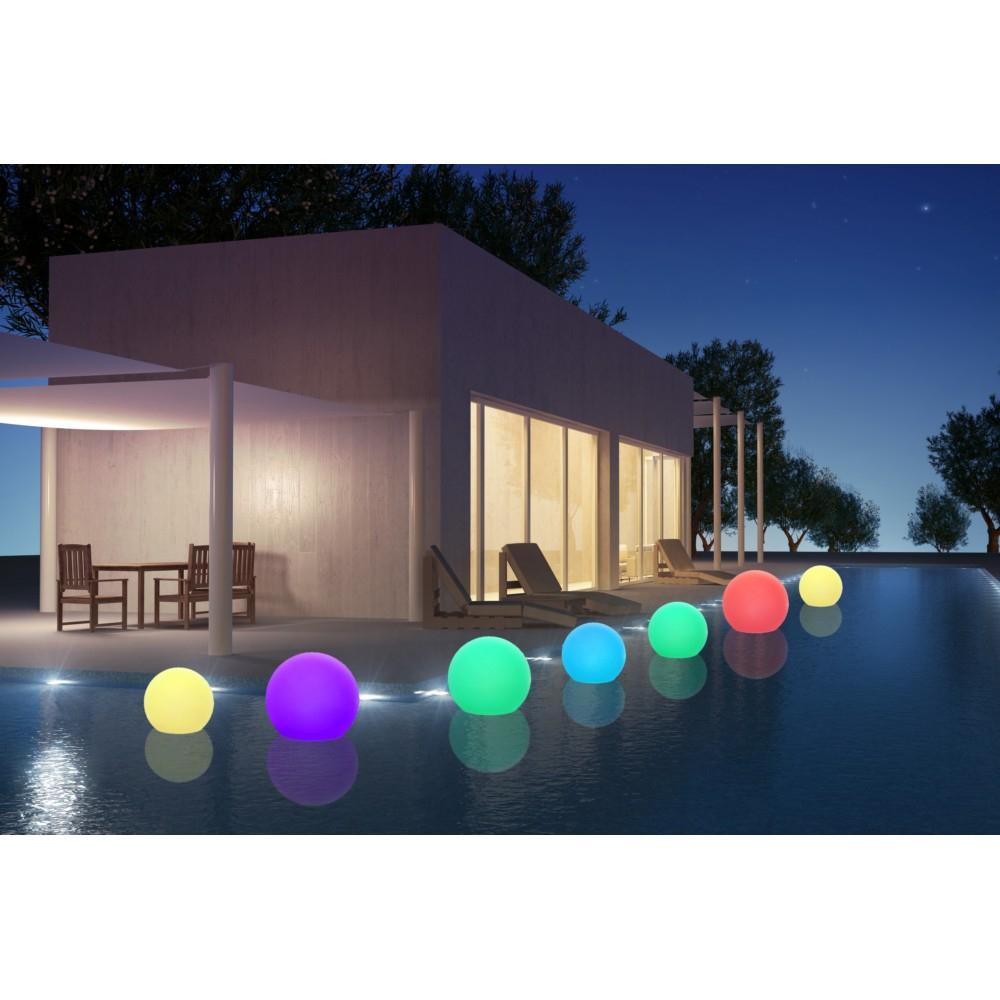 Boule Lumineuse Autonome Diamètre 30Cm serapportantà Boules Lumineuses Jardin