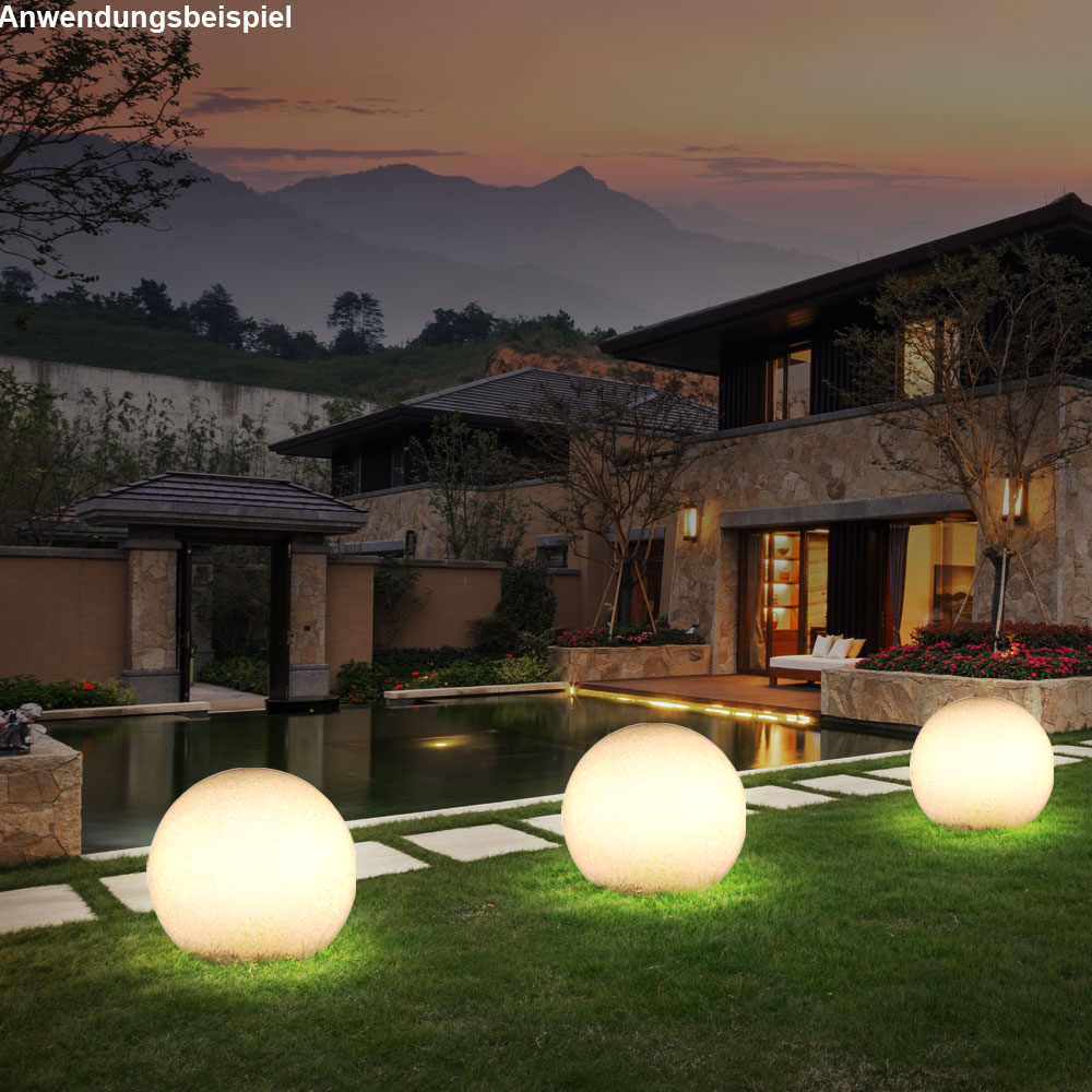 Boule Lumineuse Luminaire Extérieur Pierre Véranda Jardin Éclairage  Décoration serapportantà Boules Lumineuses Jardin