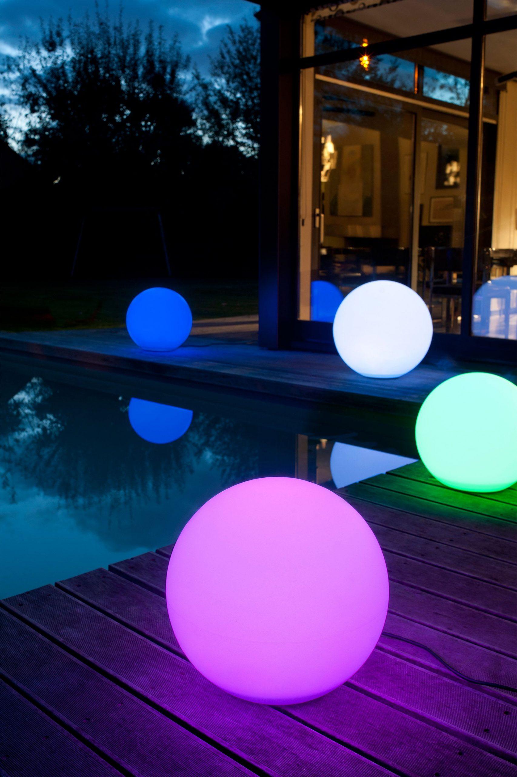 Boule Lumineuse Multicolore | Éclairage Extérieur, Boule ... avec Sphere Lumineuse Jardin