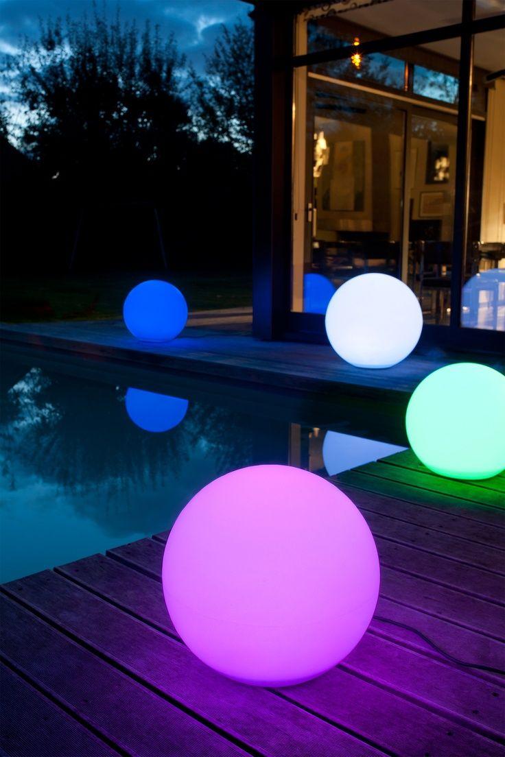 Boule Lumineuse Multicolore | Éclairage Extérieur, Boule ... encequiconcerne Boule Lumineuse Jardin