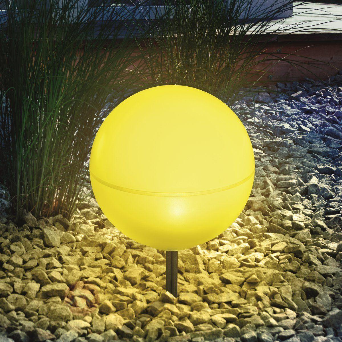 Boule Lumineuse Solaire Flexible Jaune | Boule Lumineuse ... concernant Boule Décorative Jardin