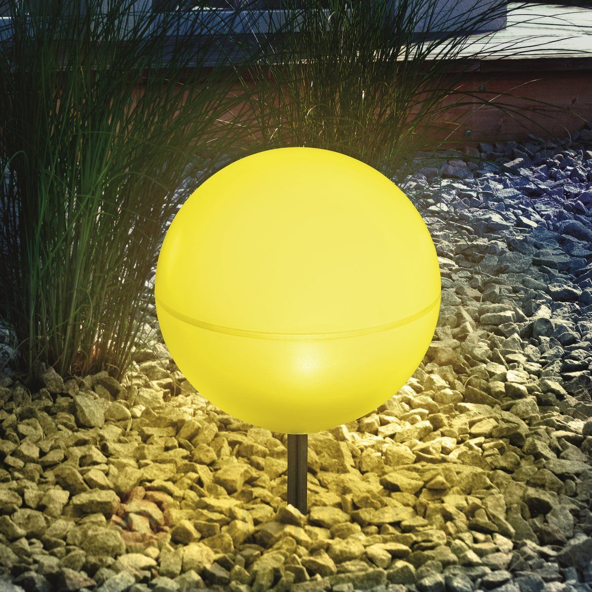 Boule Lumineuse Solaire Flexible Jaune | Boule Lumineuse ... destiné Boule Décorative Pour Jardin