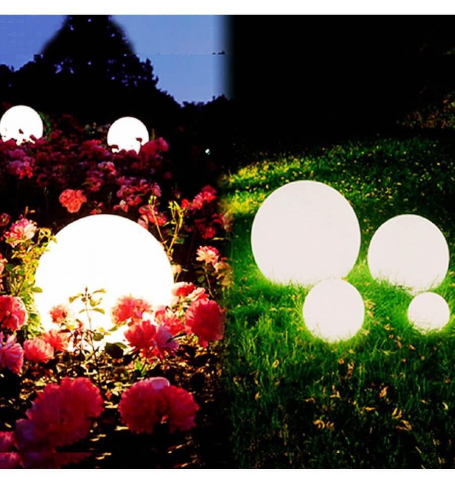 Boule Lumineuse Waterproof Multicolore À Énergie Solaire - Sun dedans Boule Lumineuse Jardin
