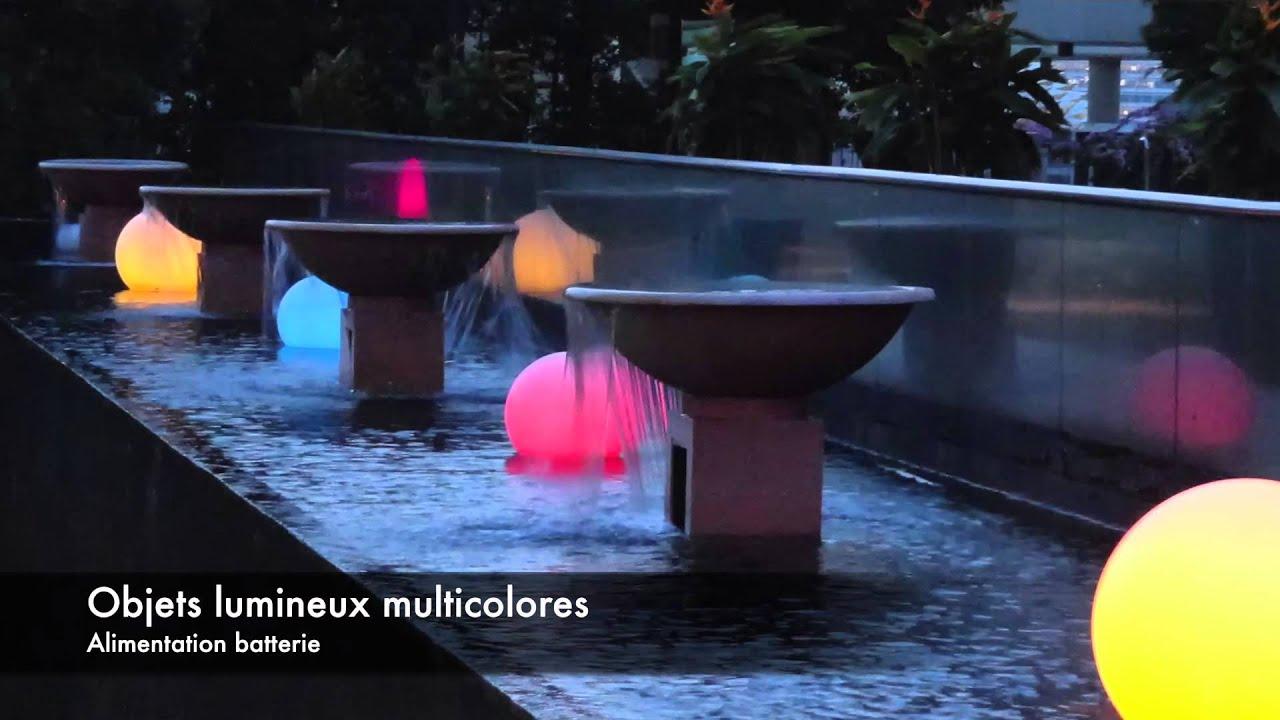 Boules Cubes Objets Lumineux Led Lumi Jardin serapportantà Boule Lumineuse Jardin