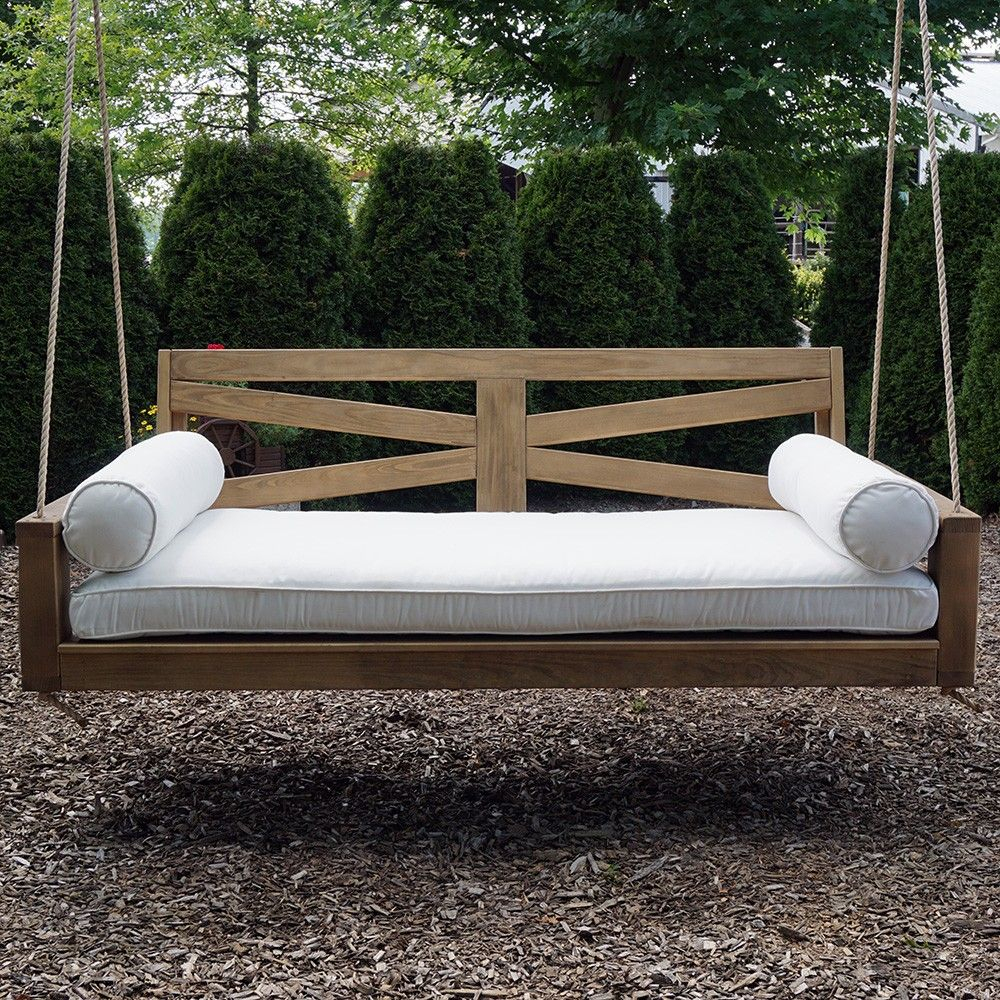 Breezy Acres Hazleton Porch Swing Bed | Meubles De Véranda ... intérieur Meubles Veranda Jardin