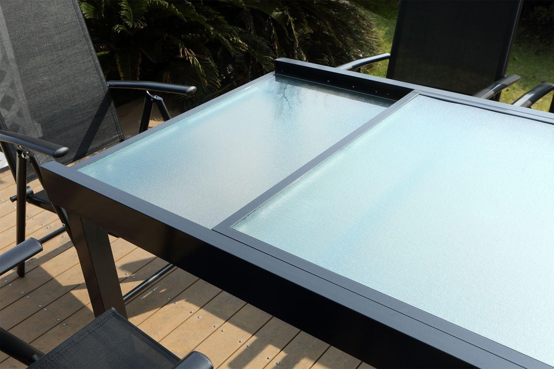 Brescia 10 avec Table De Jardin Aluminium Et Verre