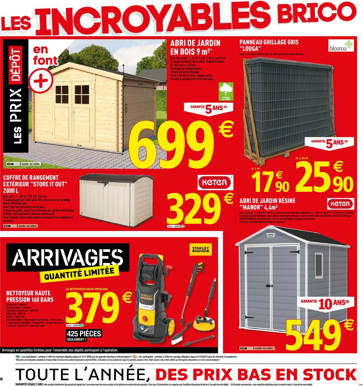 Brico Dépôt Catalogue Actuel 07.06 - 30.06.2019 [8 ... encequiconcerne Abri De Jardin Metal Brico Depot