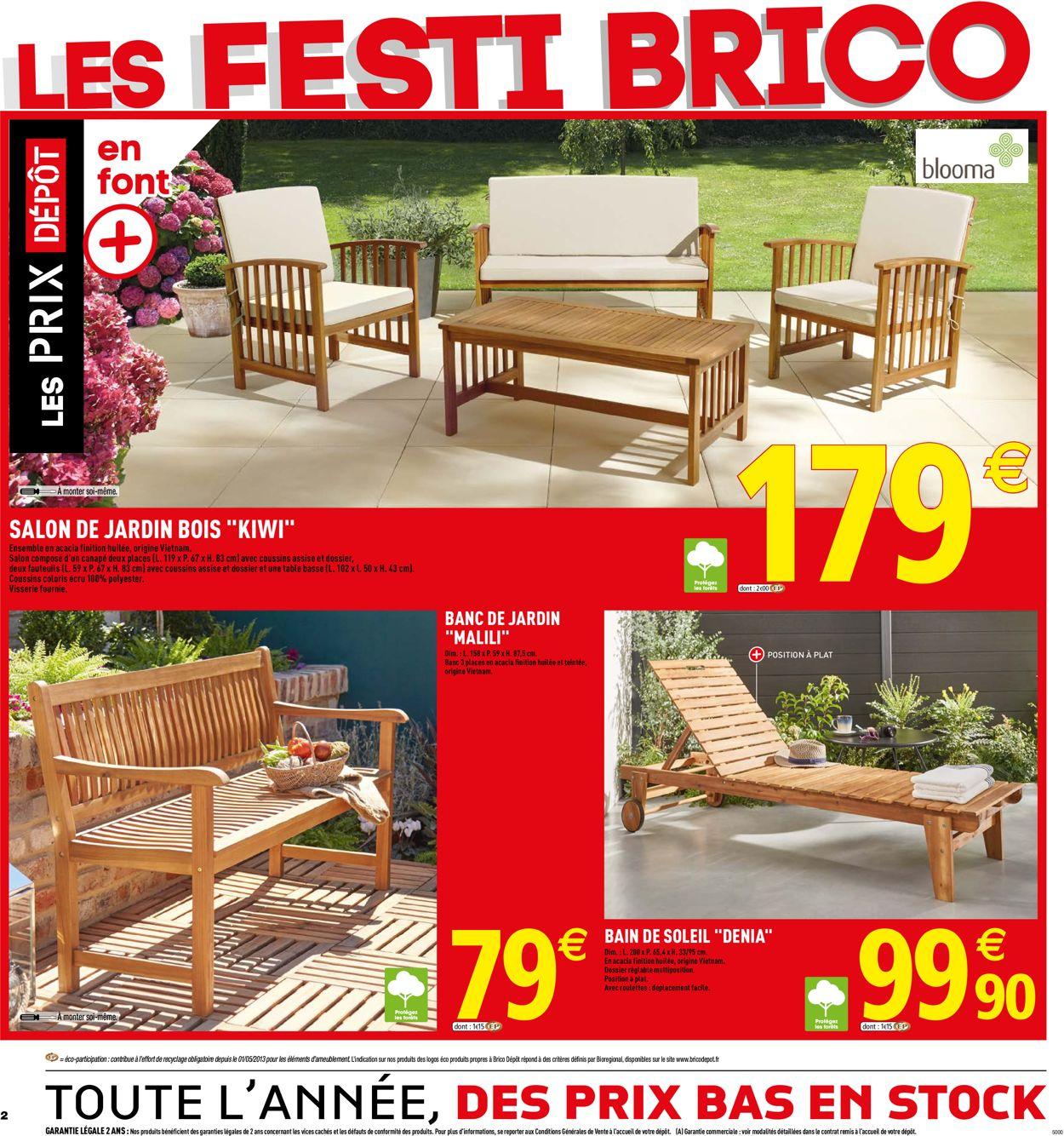 Brico Dépôt Catalogue Actuel 17.05 - 31.05.2019 [2 ... à Brico Depot Salon De Jardin