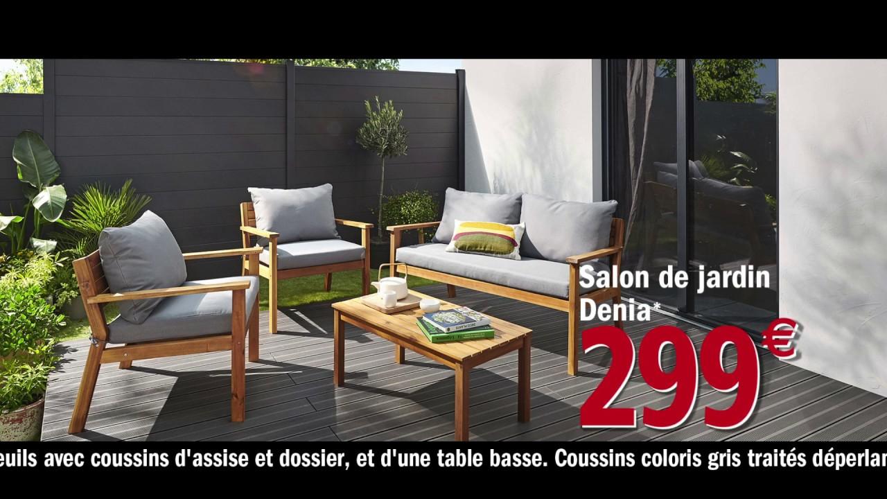 Brico Dépôt Passe À L'action : Salon De Jardin Denia avec Mobilier Jardin Brico Depot
