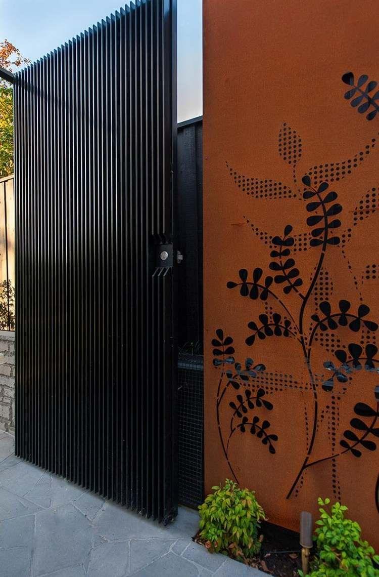 Brise Vue Jardin Et Déco En Acier Corten- 30 Idées ... intérieur Idee Brise Vue Jardin