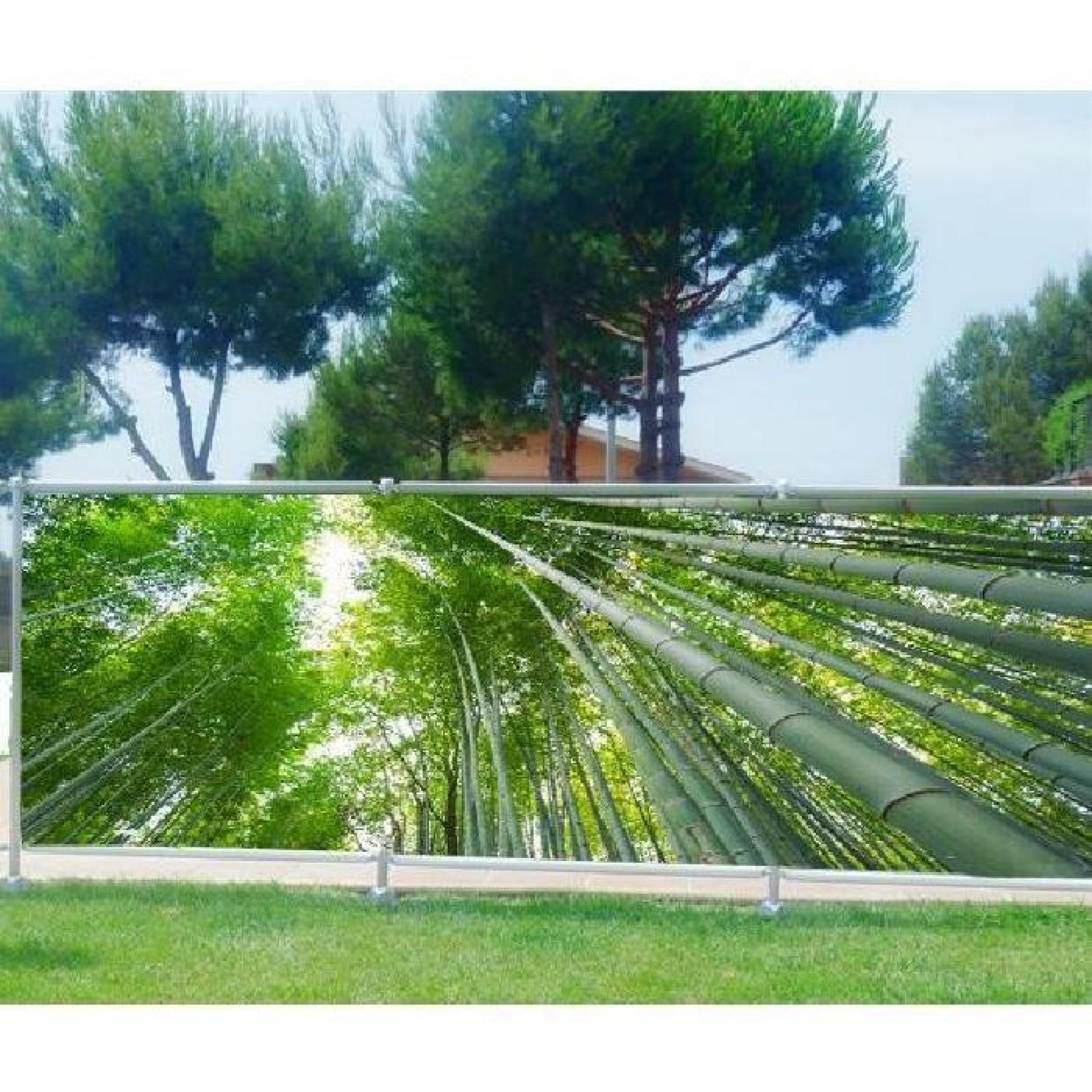 Brise Vue, Jardin, Terrasse, Balcon Déco Bambous Occultation - 80%,  Dimensions - 250X97Cm à Brise Vue Jardin Pas Cher