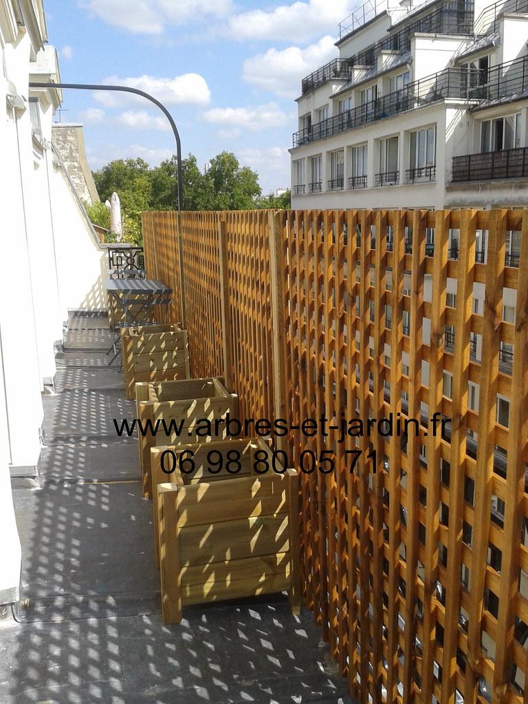 Brise Vue Panneau Et Treillis Bois Livraison Et Instalatio ... dedans Treillis Metal Jardin