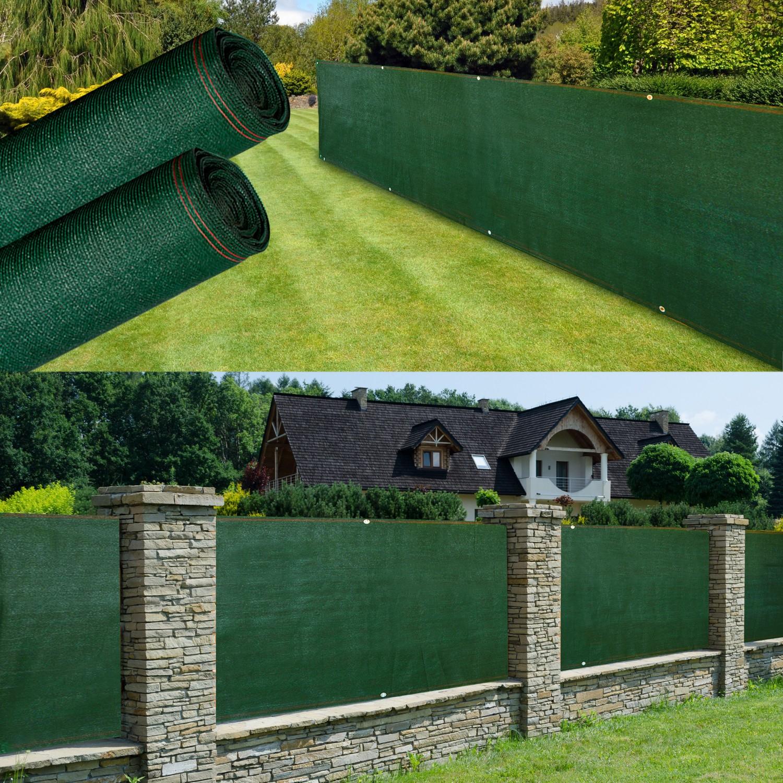 Brise Vue Renforcé 1 X 10 M Vert 220 Gr/m² Luxe Pro Probache pour Brise Vue Jardin Pas Cher