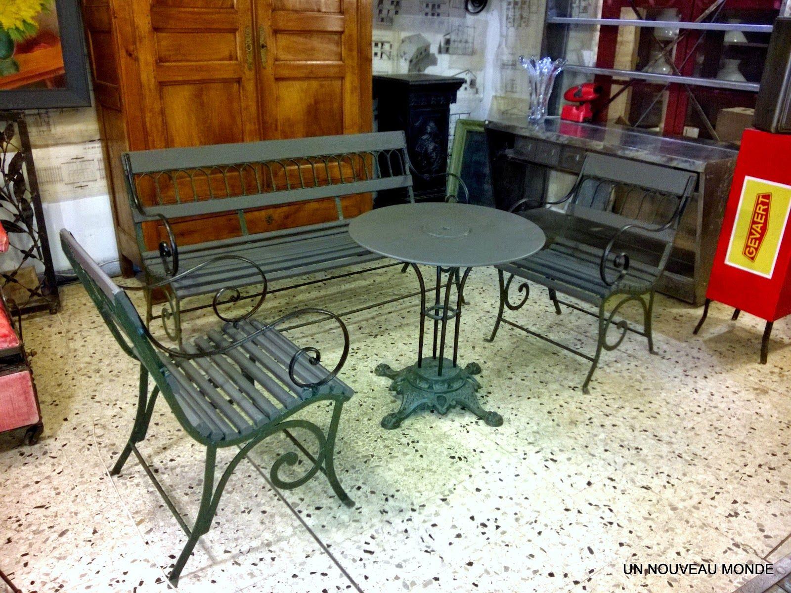 Brocante Décoration Un Nouveau Monde: Salon De Jardin ... encequiconcerne Mobilier De Jardin Fer Forgé Ancien