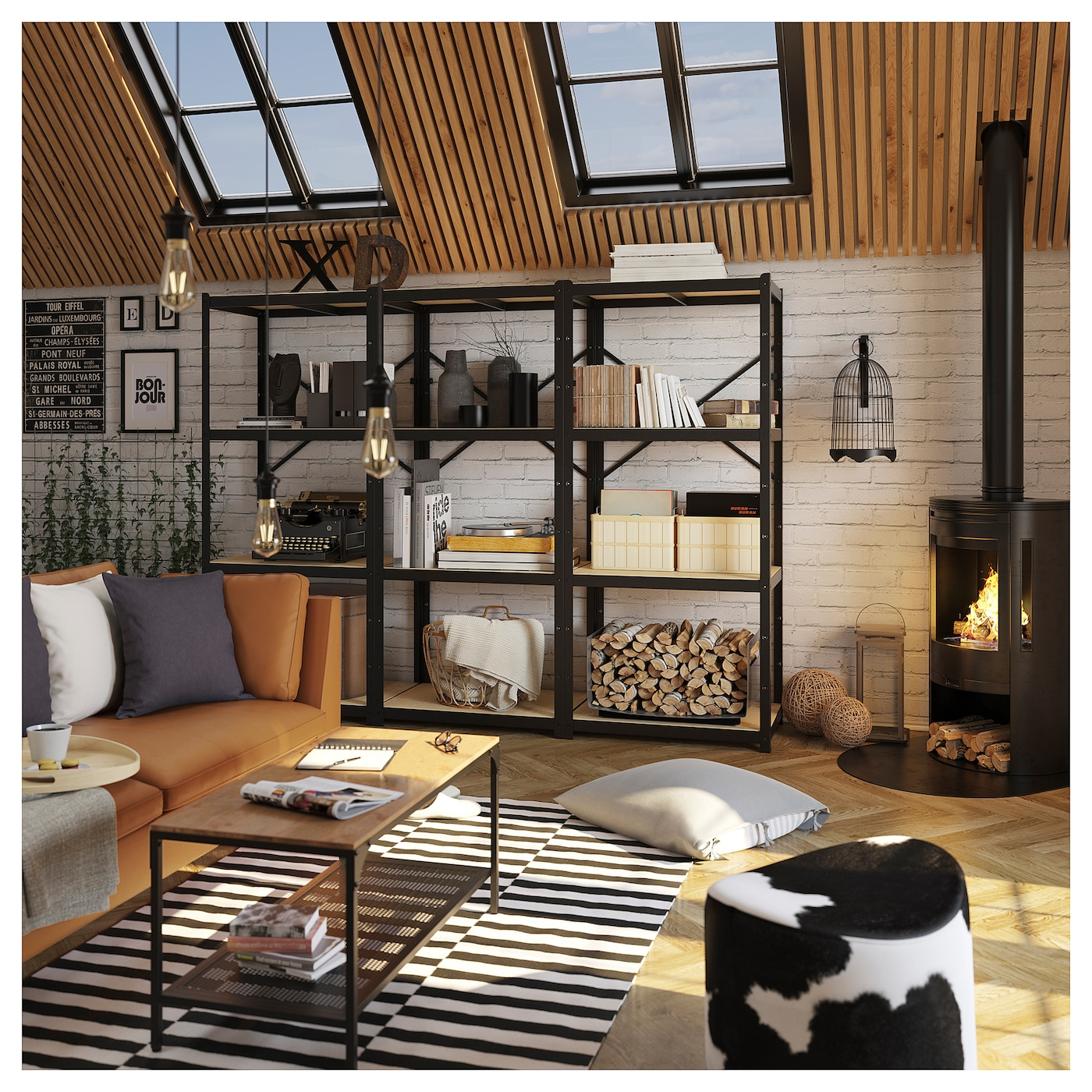 """Bror Shelf - Pine Plywood 33 1/8X21 1/4 """" (84X54 Cm) dedans Desserte Jardin Ikea"""
